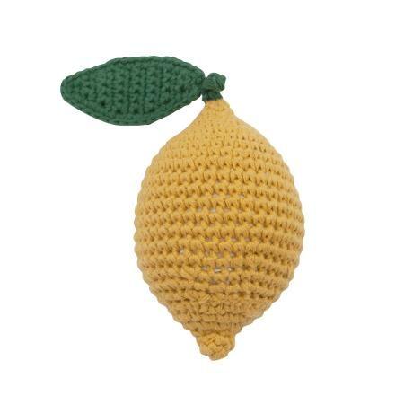 Crochet Rattle Lemon