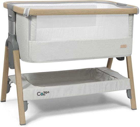 Co-sleeper CoZee / Oak and Silver