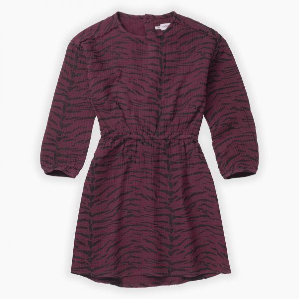 Woven Dress Tiger / Burgundy
