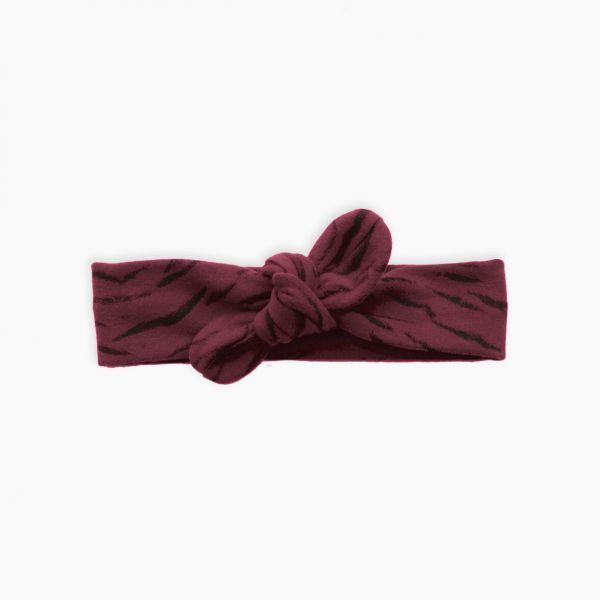 Headband Tiger AOP / Burgundy