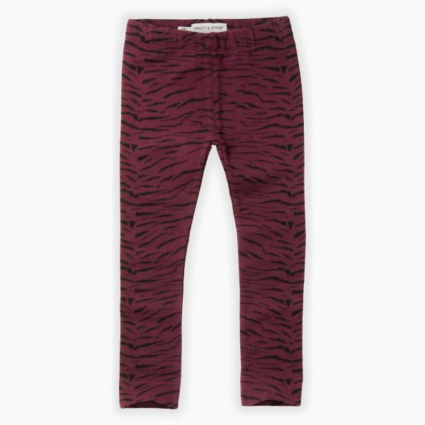 Sweat Legging / Tiger Burgundy