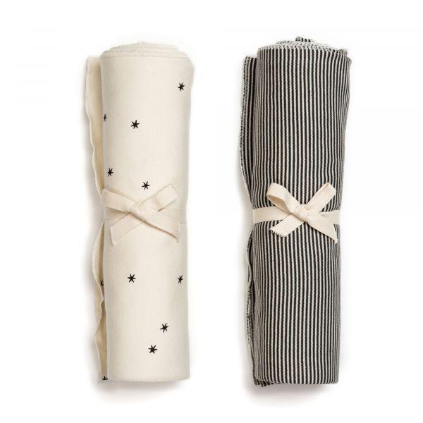 Swaddle Blanket Set / Star - Stripe