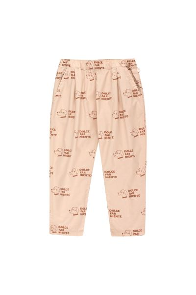 Dogs Pleated Pants / Light Nude - Cinnamon