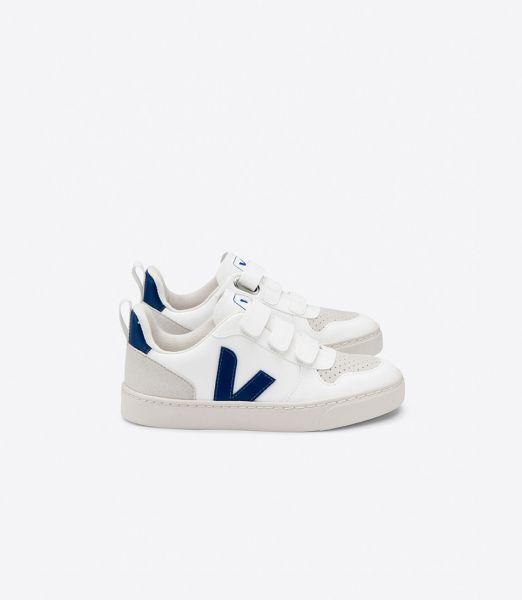 Vegan sneaker V-10 White Cobalt