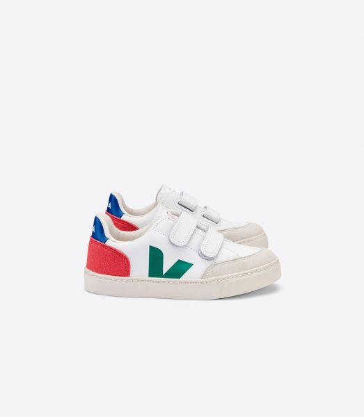 Leather sneaker V-12 Extra White Emeraulde Pekin