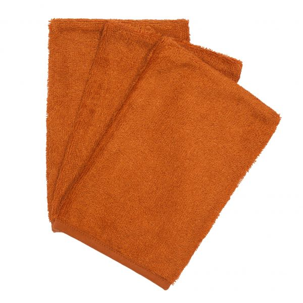 Set van 3 washandjes / Inca Rust