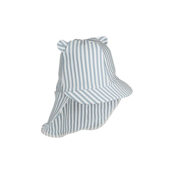 Senia Sun Hat / Stripe Sea Blue White