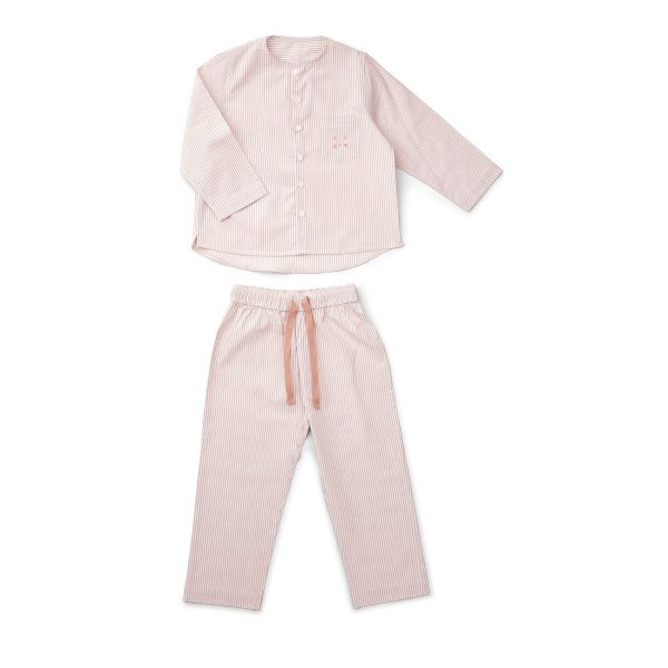 Olly Pyjamas Set / Stripes Rose and White