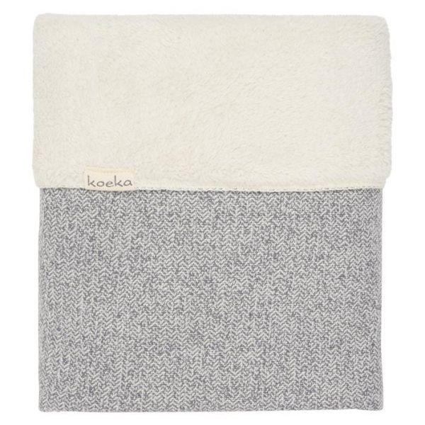 Wiegdeken Vigo Teddy / Sparkle grey/pebble