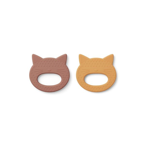 Geo Teether 2 Pack / Cat Rose - Yellow Mellow